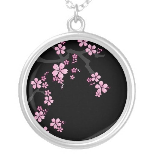 Black Sakura - Japanese Design necklace