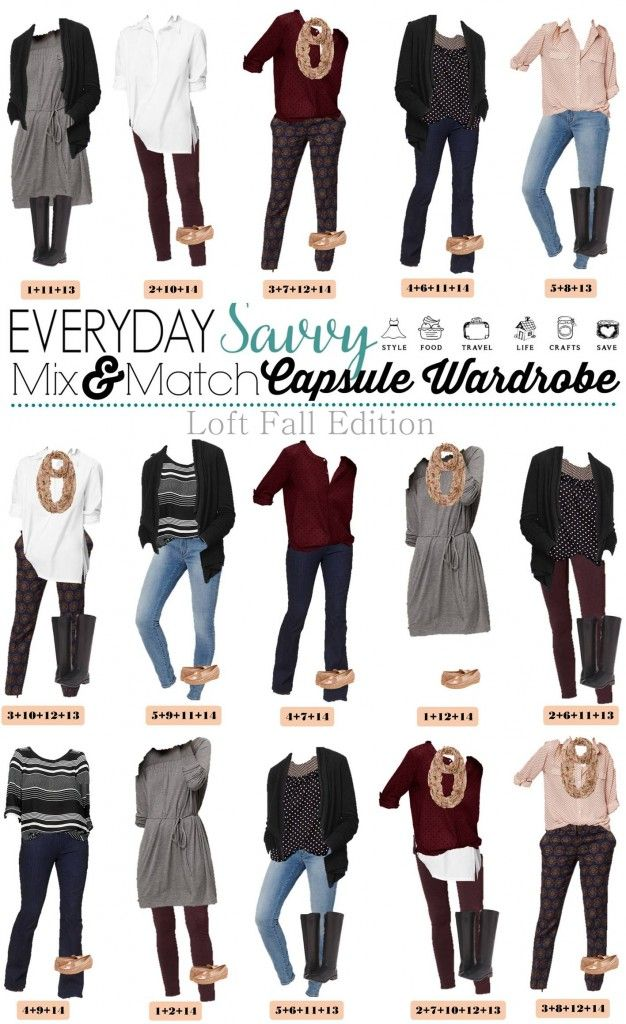 mix and match outfits for fall from loft i love will