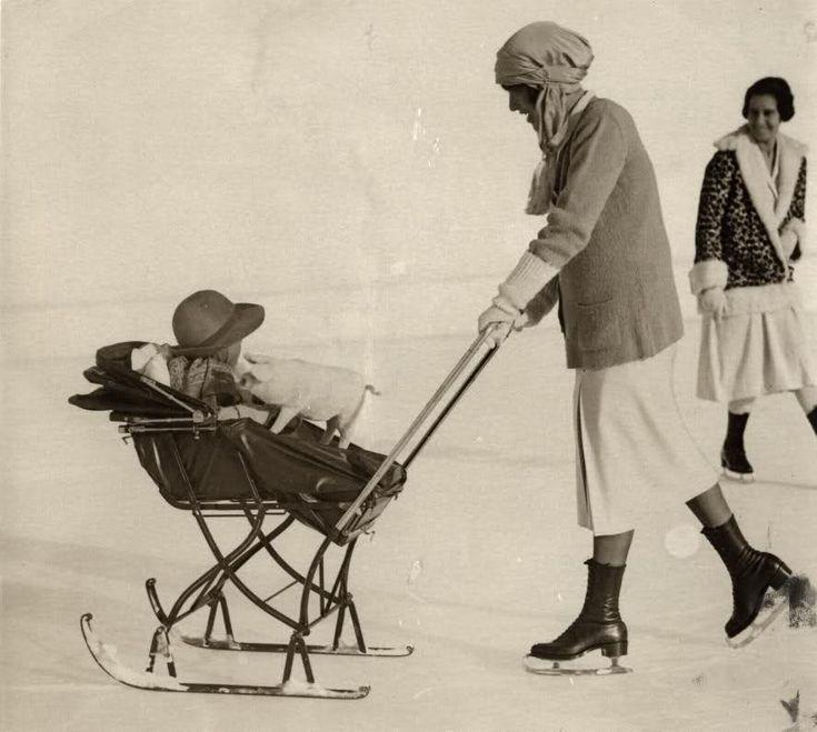 vintage baby sled