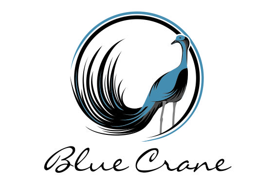 Blue Crane wine logo