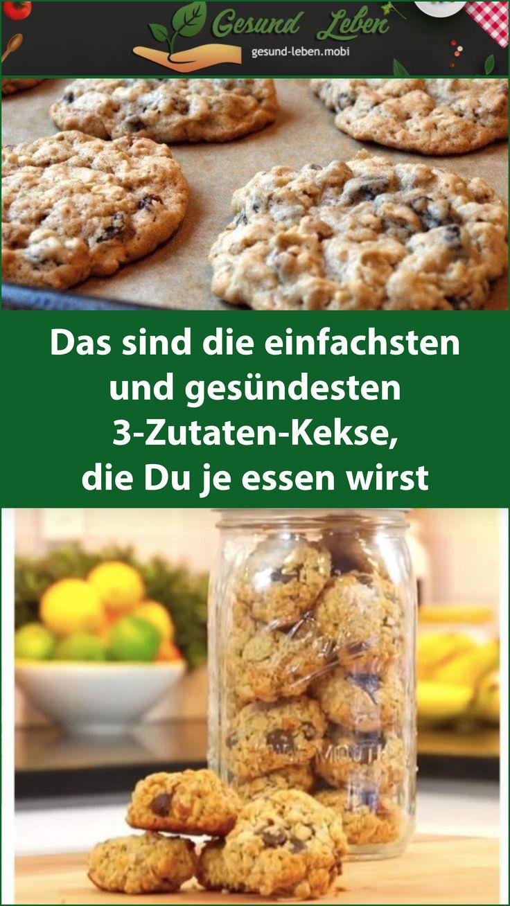 Das sind die einfachsten und gesündesten 3-Zutaten-Kekse, die Du je essen wirst  – Low Carb