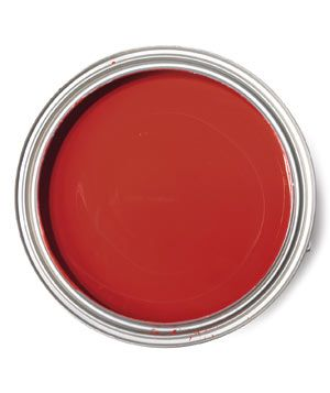 Best red for a living room with chocolate brown furnishings - Benjamin Moore Currant Red 1323
