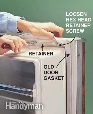 How to Replace a Refrigerator Door Gasket