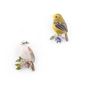 Sparrow & Gold Crest Studs