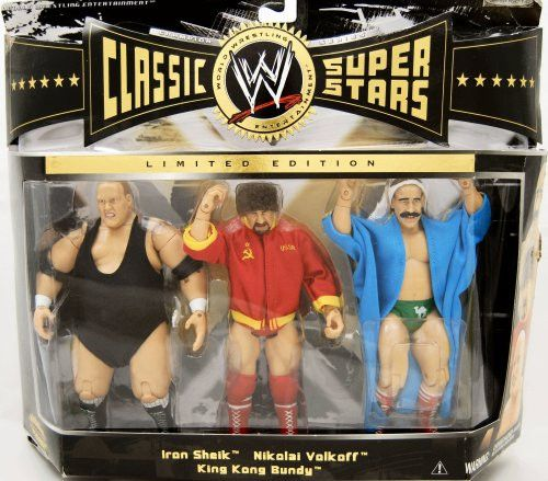 WWE Classic Super Stars 3-pack Iron Sheik Nikolai Volkoff King Kong Bundy