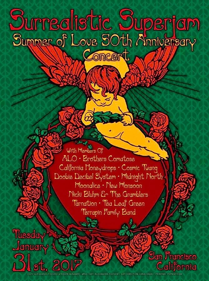 Surrealistic Superjam - 50th Anniversary of the Summer of Love - January 31, 2017 - The Fillmore SF - Artist: Alexandra Fischer