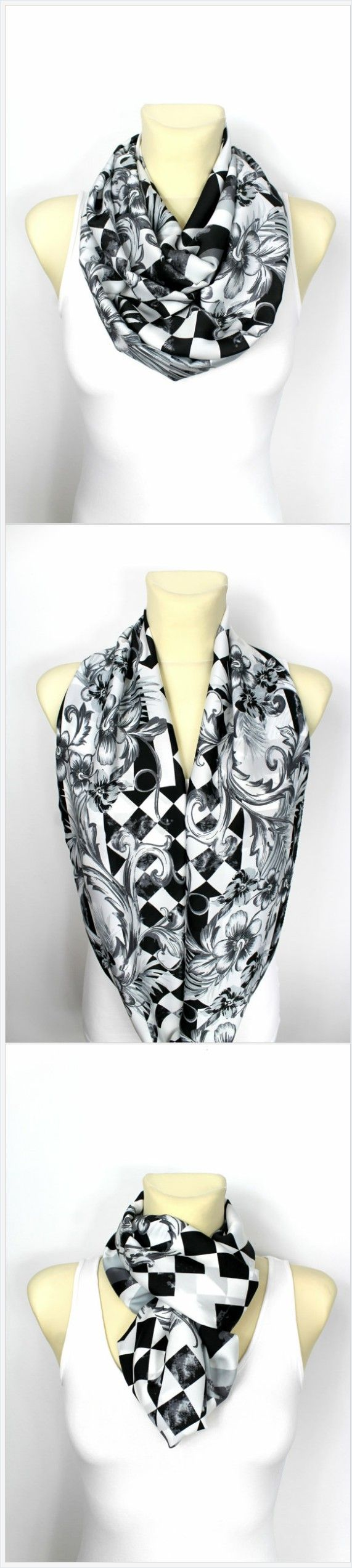 Silky satin scarf - The best idea for a Christmas Gift! Chose a fashion print perfect for your taste. Surprise your friend or family member giving this unique gift for Christmas to them. Visit Locotrends on Etsy to see more high quality handmade scarves as well as gorgeous mega chunky knit blankets