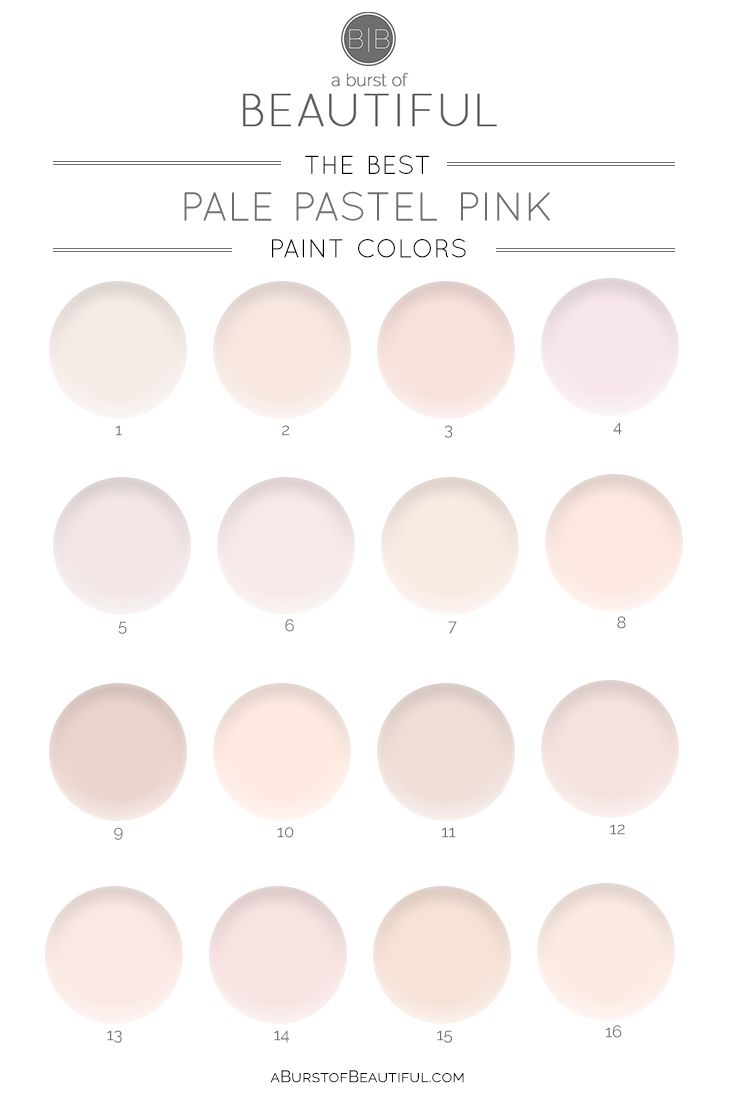The Best Pale Pink Paint Colors Pink Paint Colors Light Pink Paint Nursery Paint Colors