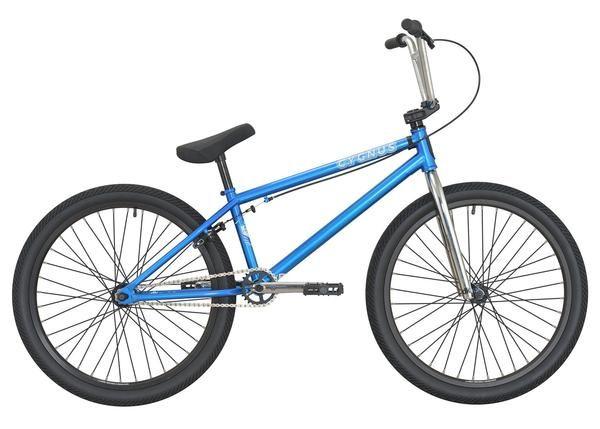 "DK Cygnus 24"" Complete BMX Bike Trans Blue"