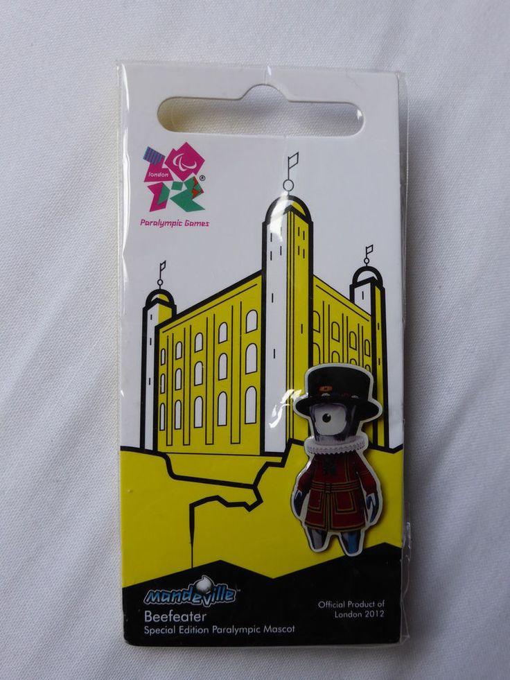 Official London 2012 Mascots - Mandeville - Beefeater PIN   | eBay
