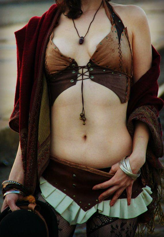 leather bra tribal - Google Search