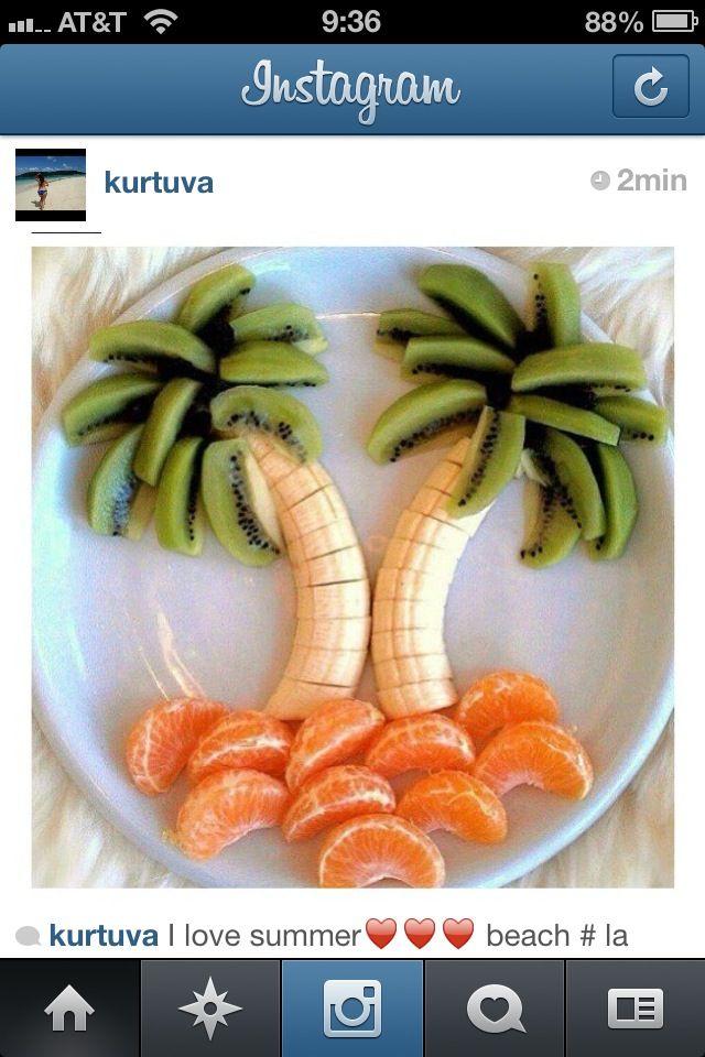 Postre niños fruta
