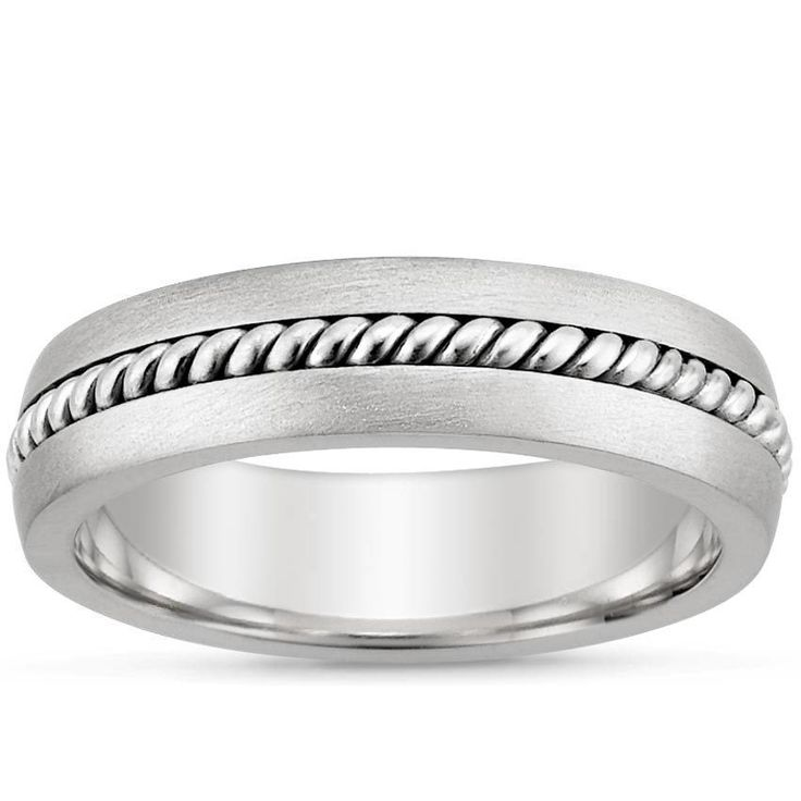 18K White Gold Entwined Inlay Wedding Ring from Brilliant Earth