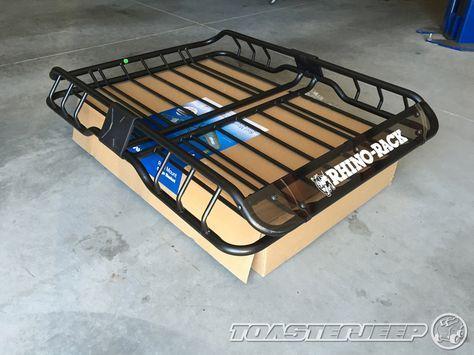 Used Jeep Cherokee Trailhawk >> Thule AeroBlade Cross Bars & Rhino-Rack XTray Cargo Basket ...