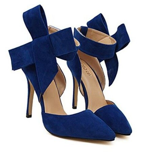 Blauw Grote Boog Hoge Schoenen