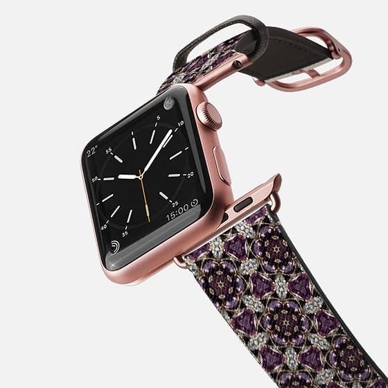 amethyst and diamonds watch band - Saffiano Leather Watch Band SOLD!thank you!