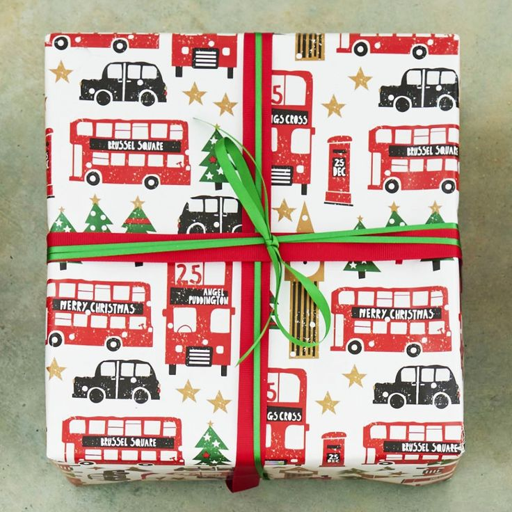 London scene 3m roll wrapping paper