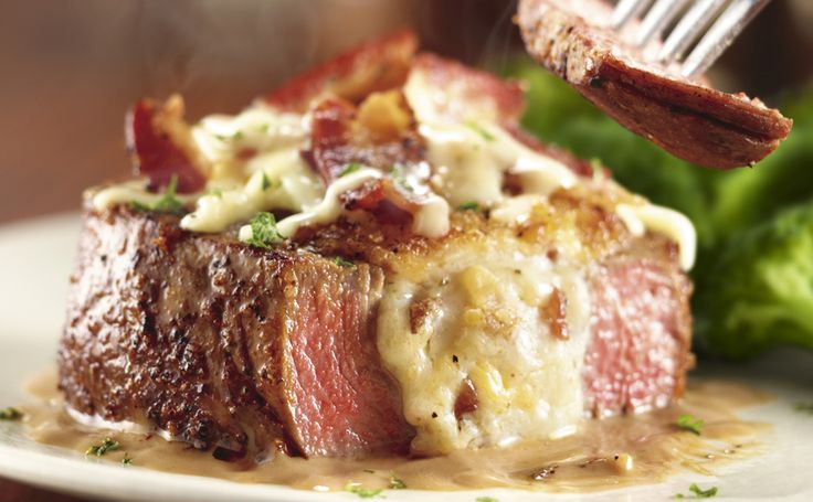 White Cheddar & Bacon Stuffed Filet*  - Longhorn Steakhouse