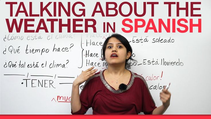 Learn Spanish: Talking about the weather (8 minutes long)