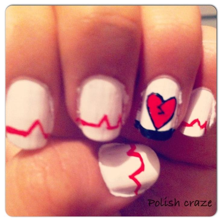 Emo nail ideas c: - 72 Best Emo Nail Ideas Images On Pinterest Halloween Ideas