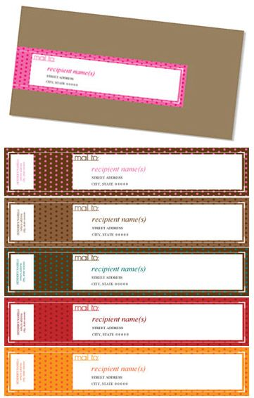 Wrap-around Mailing Labels