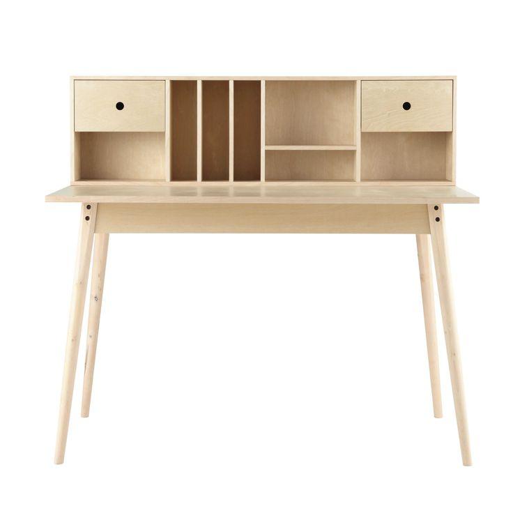 Bureau vintage en bois L 120 cm Dekale