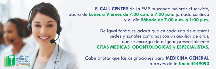 HORARIOS CALL CENTER FMP