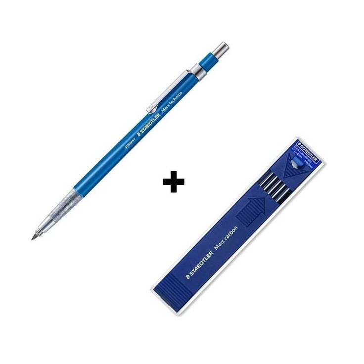 Staedtler Lead Holder 780C+Mars Carbon Blue 2.0mm Mechanical Pencil Drawing Gift #STAEDTLER