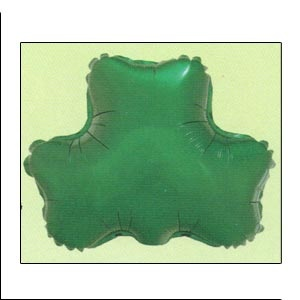 """Mylar Balloon 22"""" Shamrock.Available empty or helium filled.Helium filled option for local pickup or delivery only."""