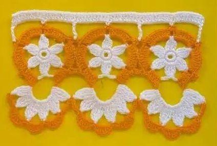 Patrón #1475: Puntilla a Crochet | CTejidas [Crochet y Dos Agujas]