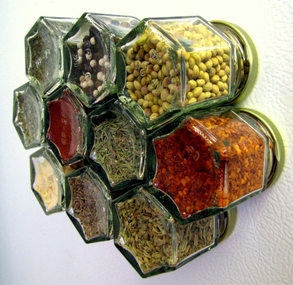 Empty spice jars 1.5 oz hexagonal jars set of 24