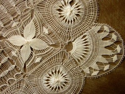 Antique tenerife lace handkerchief.