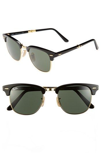 6a2573b2bc619 Ray-Ban  Clubmaster  51mm Folding Sunglasses available at  Nordstrom ...