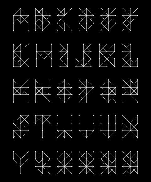 String Art font