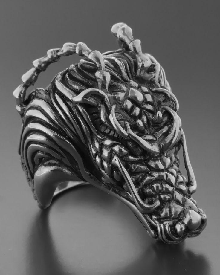 Ανδρικό χειροποίητο δαχτυλίδι Δράκος