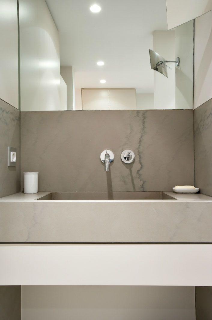 Bathroom by Stephanie Laporte. Beautiful stone.