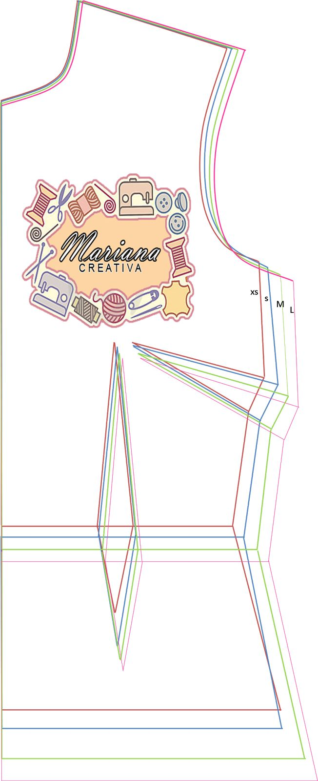 Mariana Creativa: Patrones bases multi talla XS, S, M y L !!