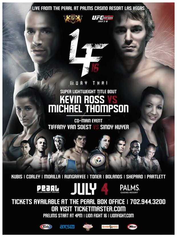 Lion Fight 16 on UFC's Calendar for July 4th Fireworks | Addison Sports Management and Media