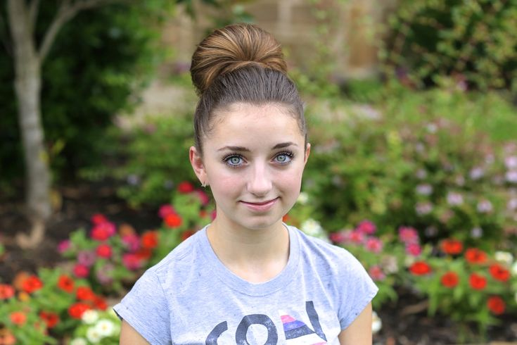 The Fan Bun. Love that you can wear this hairstyle to the gym OR work and school. Great transitional hairstyle.