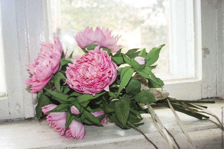 """Купить интерьерный букет """" РОЗОВЫЕ ПИОНЫ"""" - розовый, пионы, букет, интерьерная композиция, подарок"""