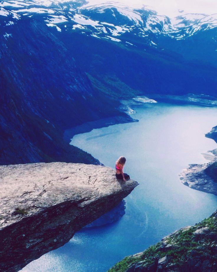 when dreams come true. Norway, Odda, Trolltunga