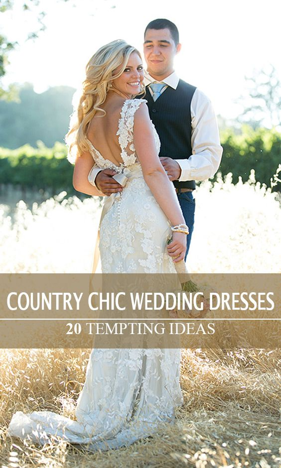 Gorgeous lace country chic wedding dress. Getting ready for your western wedding now? View more ideas