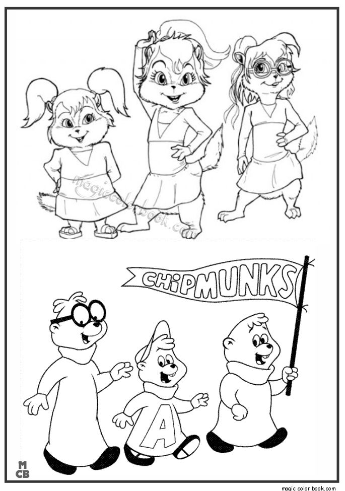 alvin and chipmunks coloring pages - 37 best chipmunk party images on pinterest squirrels