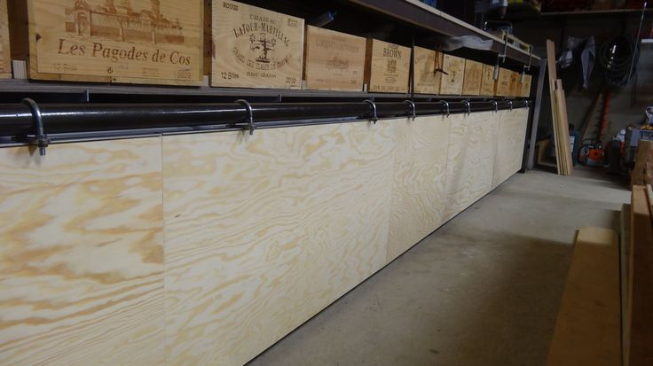 floating doors & old wooden wine boxes to store