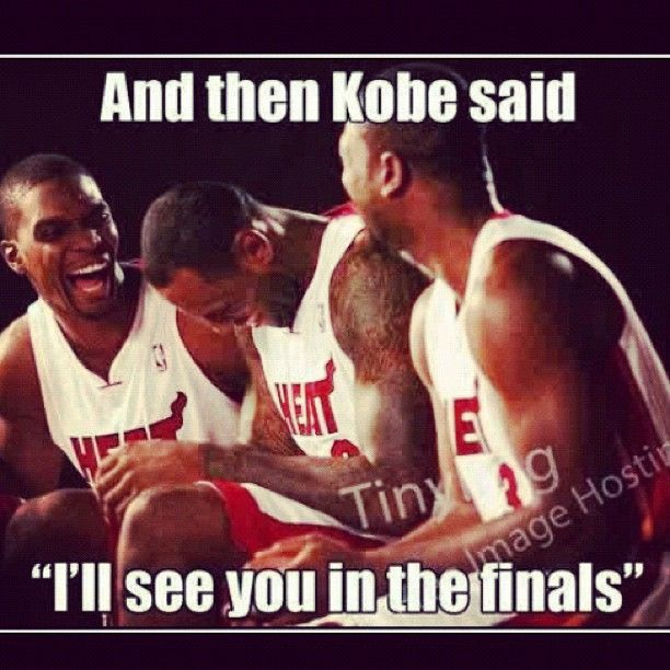 A Joke We Can All Laugh At Suckitkobe Gookc In 2020 Miami Heat Funny Basketball Memes Sports Humor