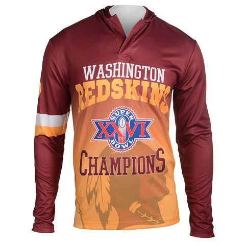 Washington Redskins Super Bowl XXVI NFL Champions Poly Hoody Tee