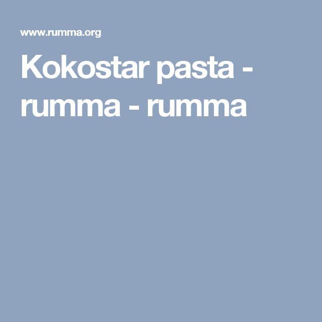 Kokostar pasta  - rumma - rumma
