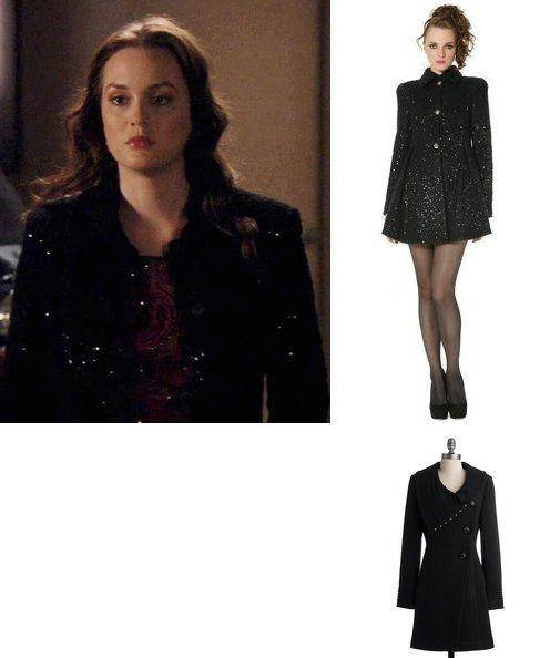 On Blair: Alice + Olivia 'Lela' Flounce Coat