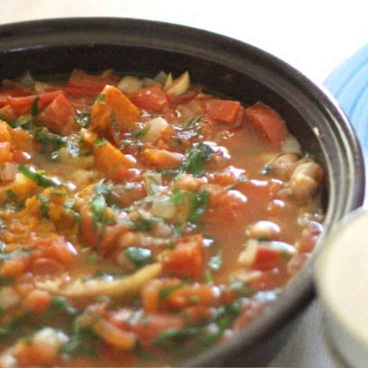 Pumpkin & Chickpea Tagine.  Click Visit for the recipe on our blog.