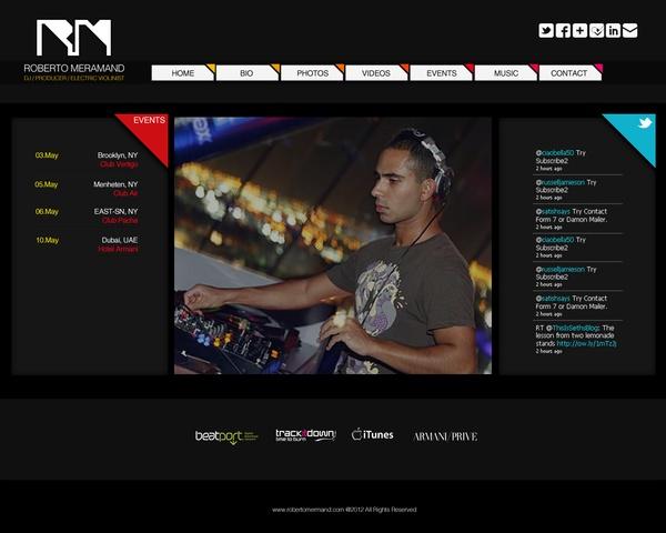 Roberto Mermand Web Site by Boban Aleksovski, via Behance